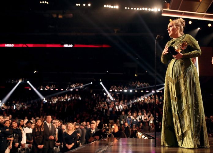 Adele Sweeps Grammys with 5 Wins