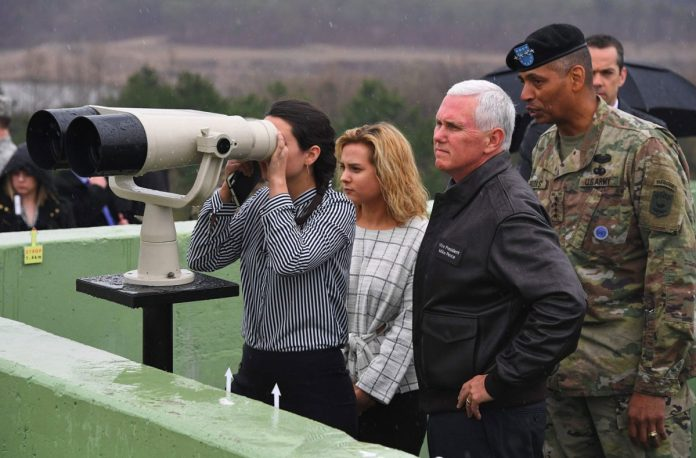 Pence Visits Korean Demilitarized Zone