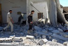 Warplane Strike Syrian Town Hit by Chemical Attack