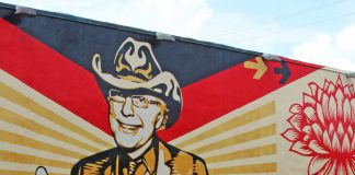 Shepard Fairey Mural at Wynwood Walls