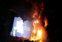 Huge Fire at Spain United Tomorrowland