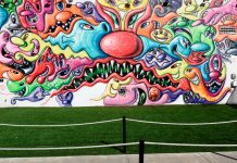 Kenny Scharf Mural and Garden at Wynwood Walls