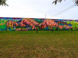 Lady Pink Mural at Wynwood Walls, Miami