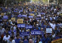 Barcelona March of Defiance Against Terrorism