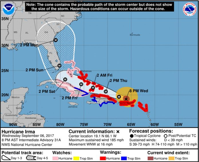 Hurricane Irma Lashes at Puerto Rico