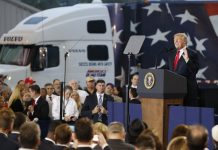 President Donald Trump Pitched his Tax Plan as a Boost for Truckers