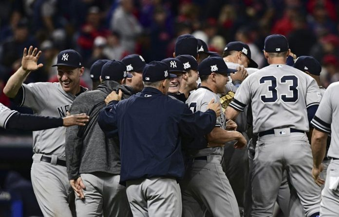 Yankees Comeback to Beat Indians 5-2 in Game 5 of ALDS