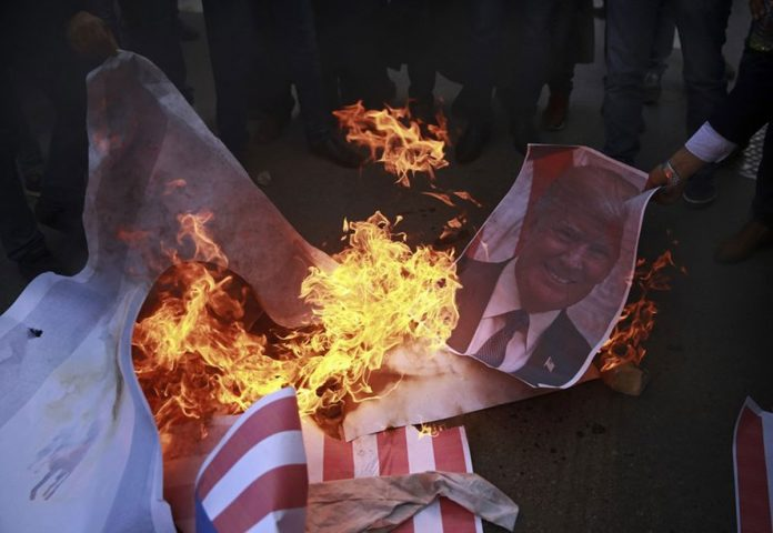 Palestinians Protest Trump Move, More Unrest Feared
