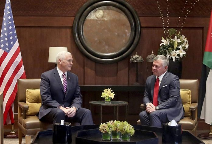 Jordan Urges Pence to 'Rebuild Trust' after Jerusalem Pivot