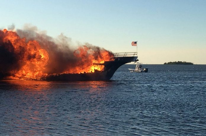 The Sun Cruz Casino Boat Engulfed by Flames, Dozens Safely Escape