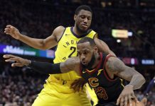 LeBron Scores 46, Cavaliers Hold off Pacers to Even Series