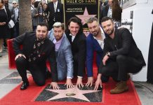 'N Sync Reunited to Get their Star on the Hollywood Walk of Fame