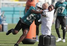 Back from Knee Injury, Dolphins' McMillan Ready for Contact