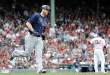 Beeks, Rays Combine on 2-hitter, Blank Red Sox 2-0
