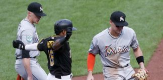 Bell, Nova Lead Pirates Over Marlins 5-1 for 5th Win in Row