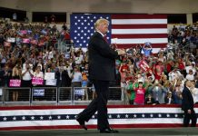 Trump Campaigns in Pennsylvania as Hurricane Pounds Florida