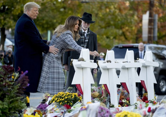 Trump Pays Tribute at Synagogue Where 11 Were Fatally Shot