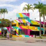 Bright New Mural by Arlin Graff atBroward Arts Center Garage