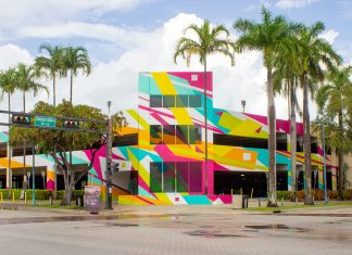 Bright New Mural by Arlin Graff at Broward Arts Center Garage