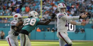 Dolphins can't Catch Allen but Overtake Bills, 21-17