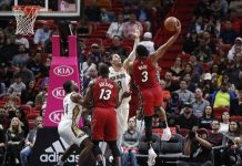 Heat Go up 31, then Scramble to Top Pelicans 106-101