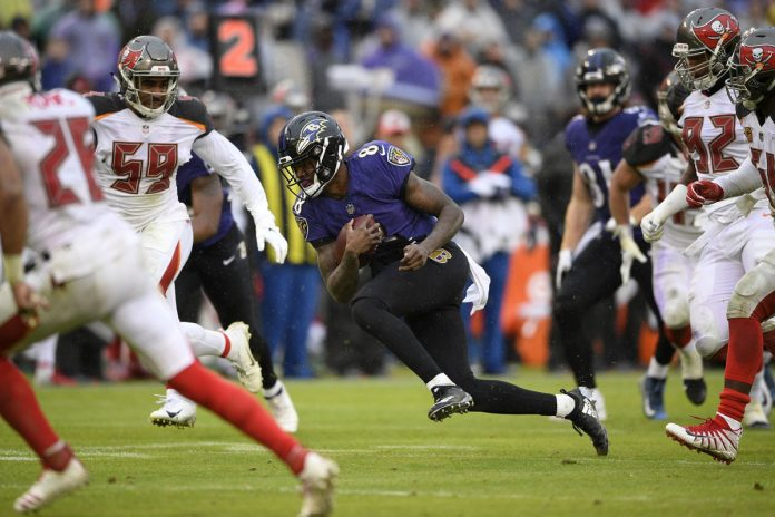 Jackson Helps Ravens Run Past Buccaneers 20-12
