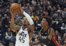 Mitchell, Jazz Roll over Short-handed Heat 111-84