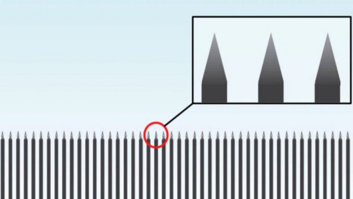 Trump's Steel Slat Barrier with Spikes on the Top