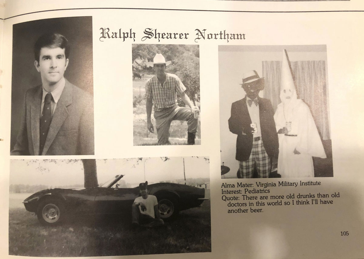 Blackface Photo Stirs Calls for Virginia Governor to Resign