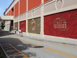 """Cayla Birk's Large Mural in CityPlace Named """"Technical Difficulties"""""""