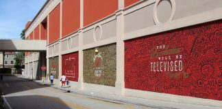 "Cayla Birk's Large Mural in CityPlace Named ""Technical Difficulties"""