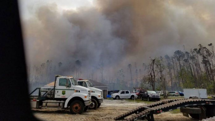 500-acre Wildfire in the Panhandle Fueled by Hurricane Michael Debris