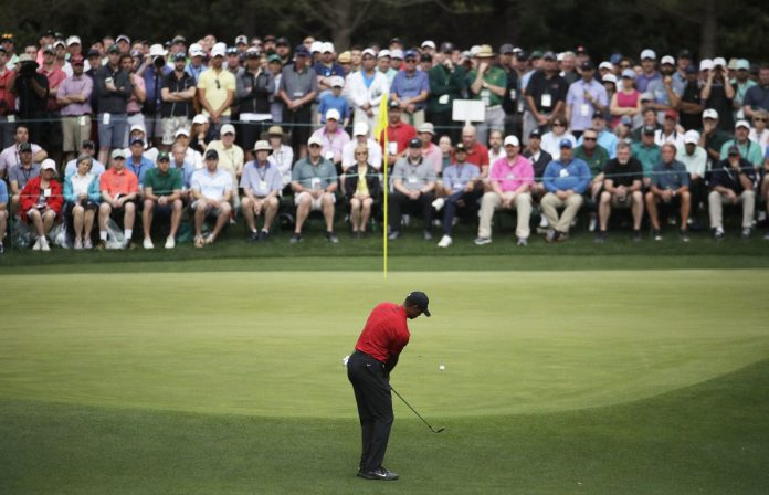 Tiger Wood Wins the Masters, his Fifth Green Jacket
