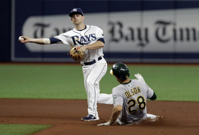 Fiers Goes 6, Olson and Davis Homer as A's Beat Rays 4-3