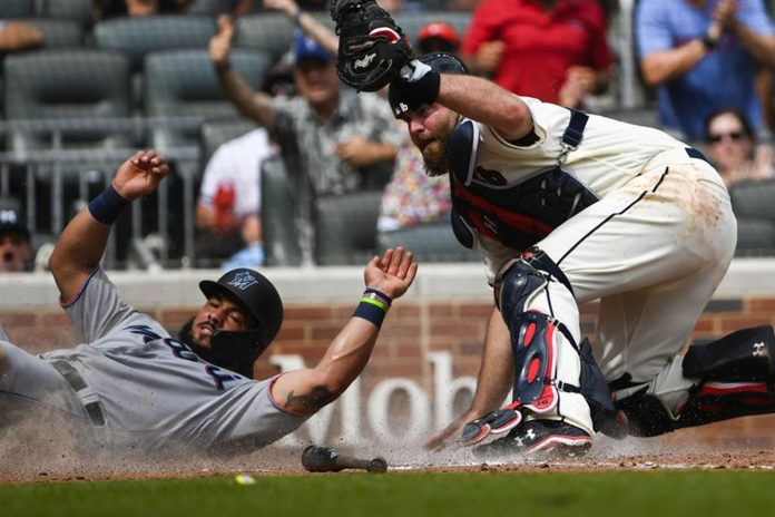 Culberson's 'Clutch' Throw Saves Braves' 4-3 Win over Miami