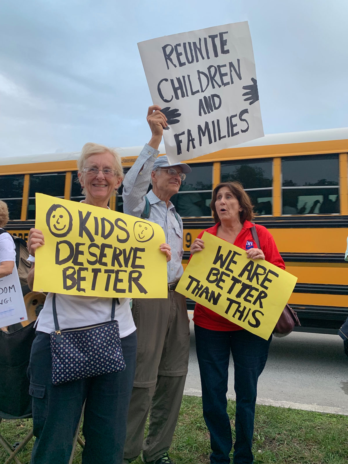 Lights for Liberty Vigil at Homestead Temporary Shelter