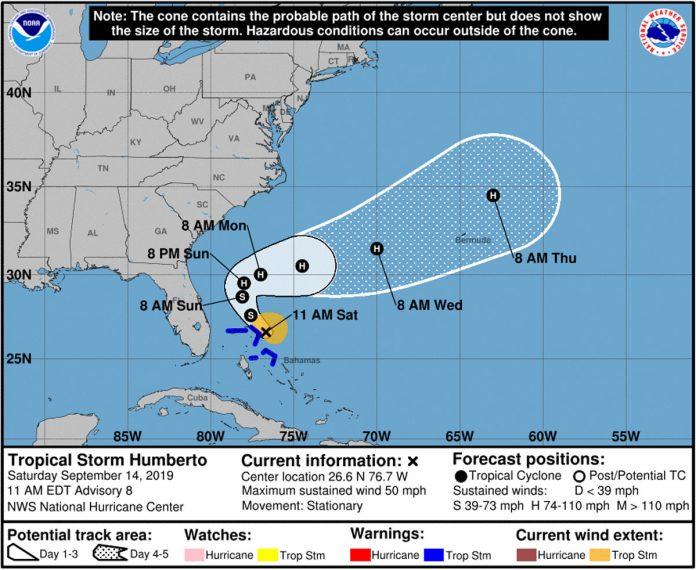 Tropical Storm Humberto Not a Threat to Florida