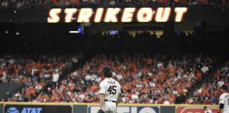Cole Fans 15, Bregman Homers as Astros Top Rays 3-1