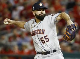 Urquidy, Bregman lead Astros over Nats 8-1 to tie Series 2-2