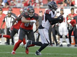 Jones' INT Return in OT Lifts Falcons over Bucs 28-22